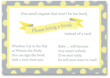 baby shower bring books instead of cards book covers