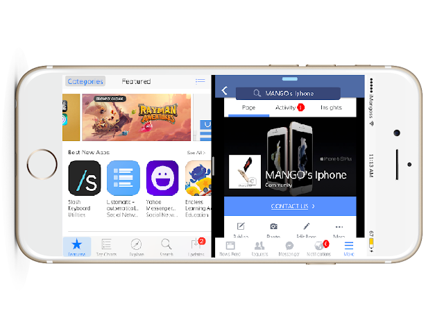 Splitify is a recently released jailbreak tweak that allows you to use iOS 9's Split View - A multitasking feature like in the latest iPad models on every jailbroken idevices running iOS 9