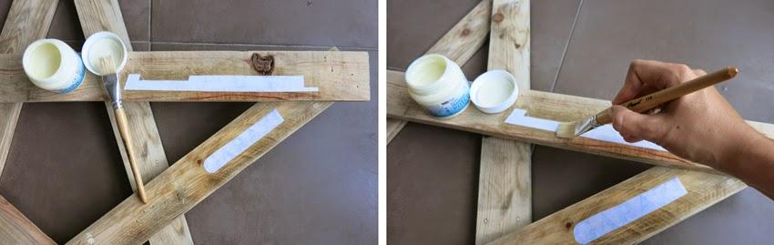 Diy estrella con madera de palet_ letras transfer con gel medium