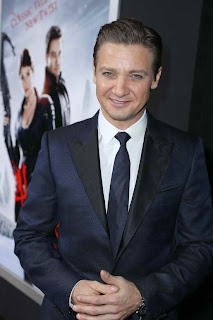 Jeremy Renner at the Hollywood red carpet premiere of Hansel and Gretel