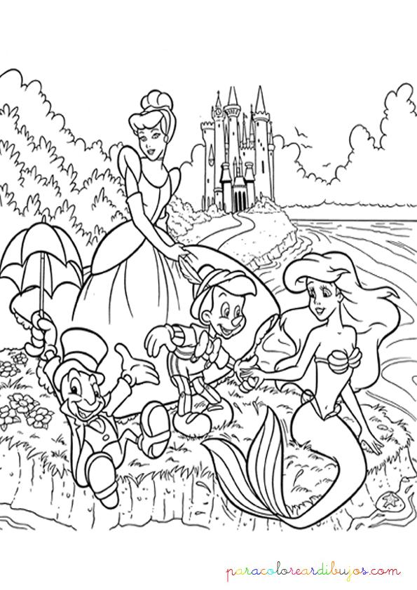 dibujo de princesas disney