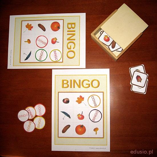 Jesienne bingo do wydruku