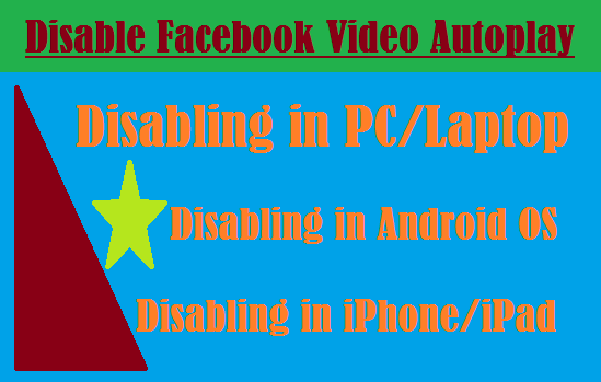 How to disable Video autoplay in Facebook Newsfeed