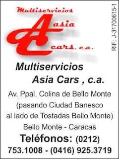 MULTISERVICIOS ASI CARS, C.A. en Paginas Amarillas tu guia Comercial