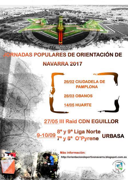 I Jornada Popular de Orientación de Navarra 2017. Ciudadela de Pamplona. Modalidad O-pie Sprint