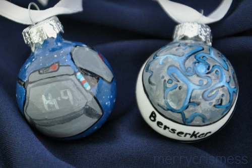 Handpainted Who Ornaments: K-9 & Sarah Jane Adventures Berserker Pendant
