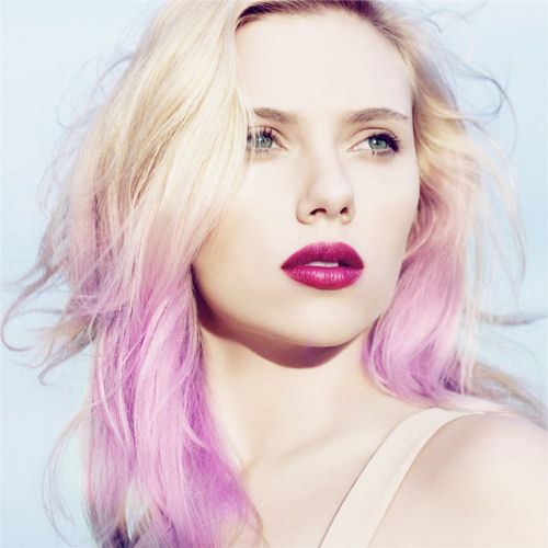 Hair Trend   Purple OmbreLilac Highlights On Blonde Hair