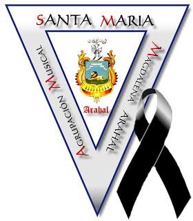 La AM Santa María Magdalena aplaza los actos del 50 Aniversario Escudo+lazo+negro