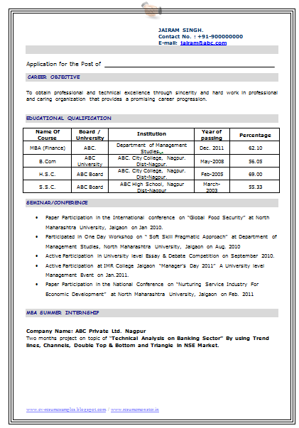 curriculum vitae january 2016