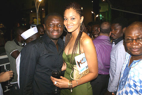 Sulley Muntari with Wife Menaye Donkor