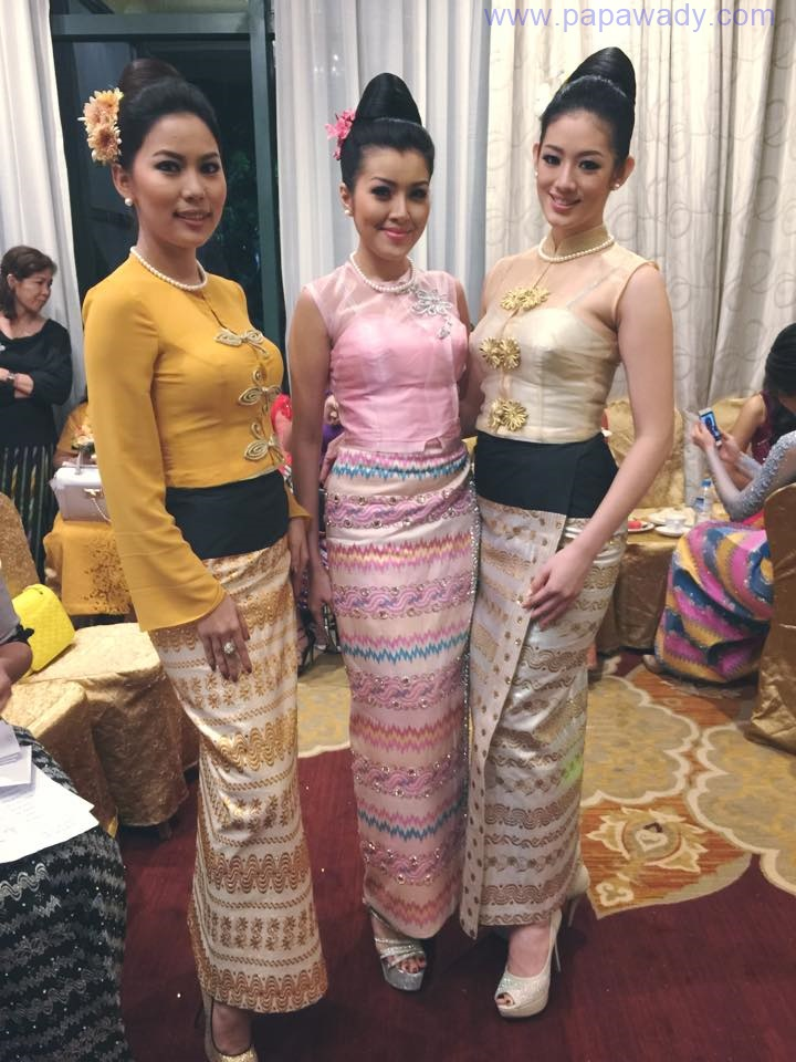 Exclusive : Khin Wai Phyo Han Behind The Scenes Pictures at Nan Myo Thu Silk Shop Fashion Show