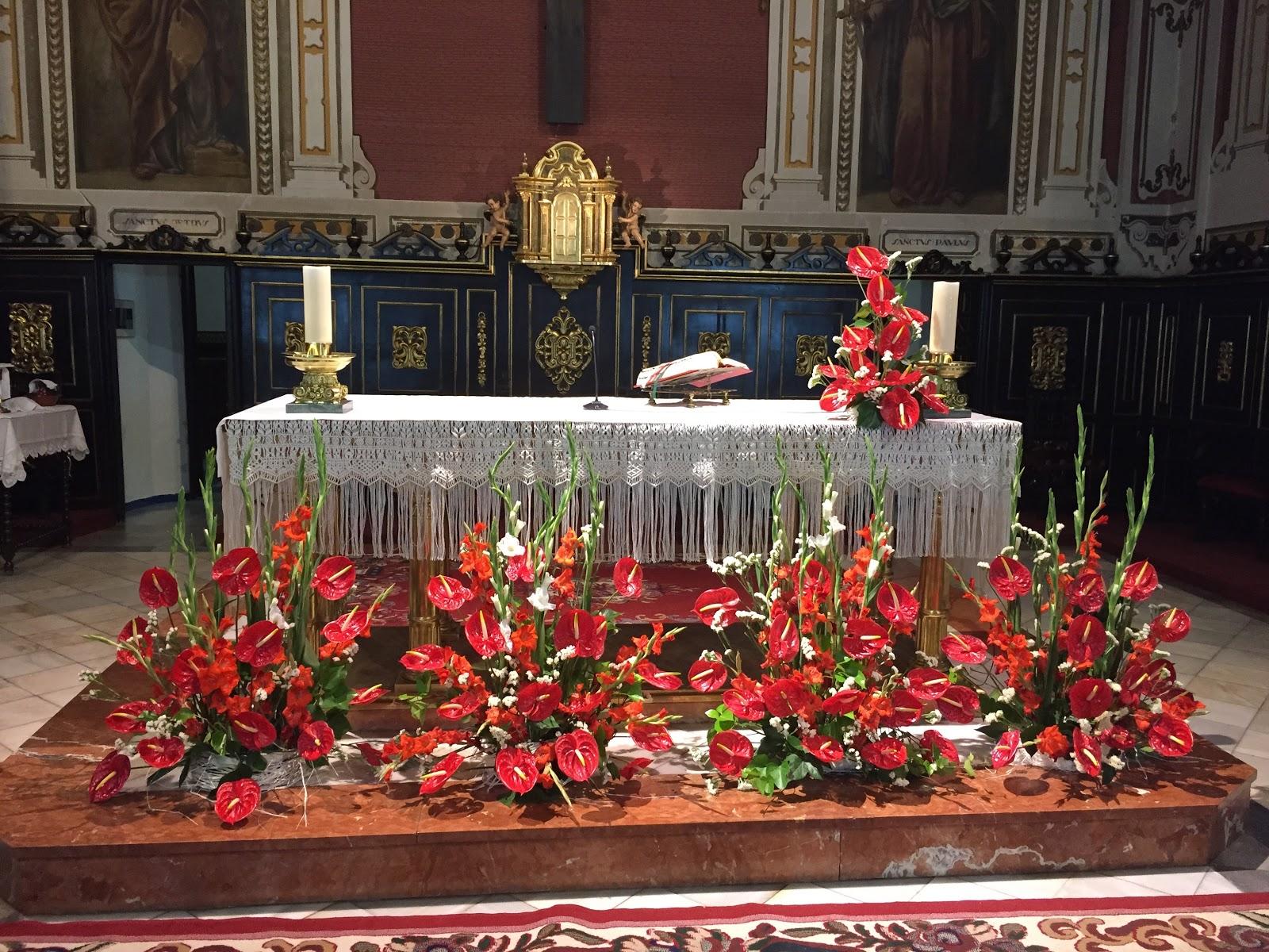 Decorar Altar De Iglesia ~ Parroquia de San Juan Bautista La Palma del Condado EL ALTAR  UNO