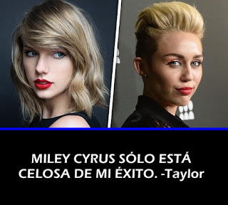 Taylor Swift responde a la critica de Miley Cyrus sobre Bad Blood.