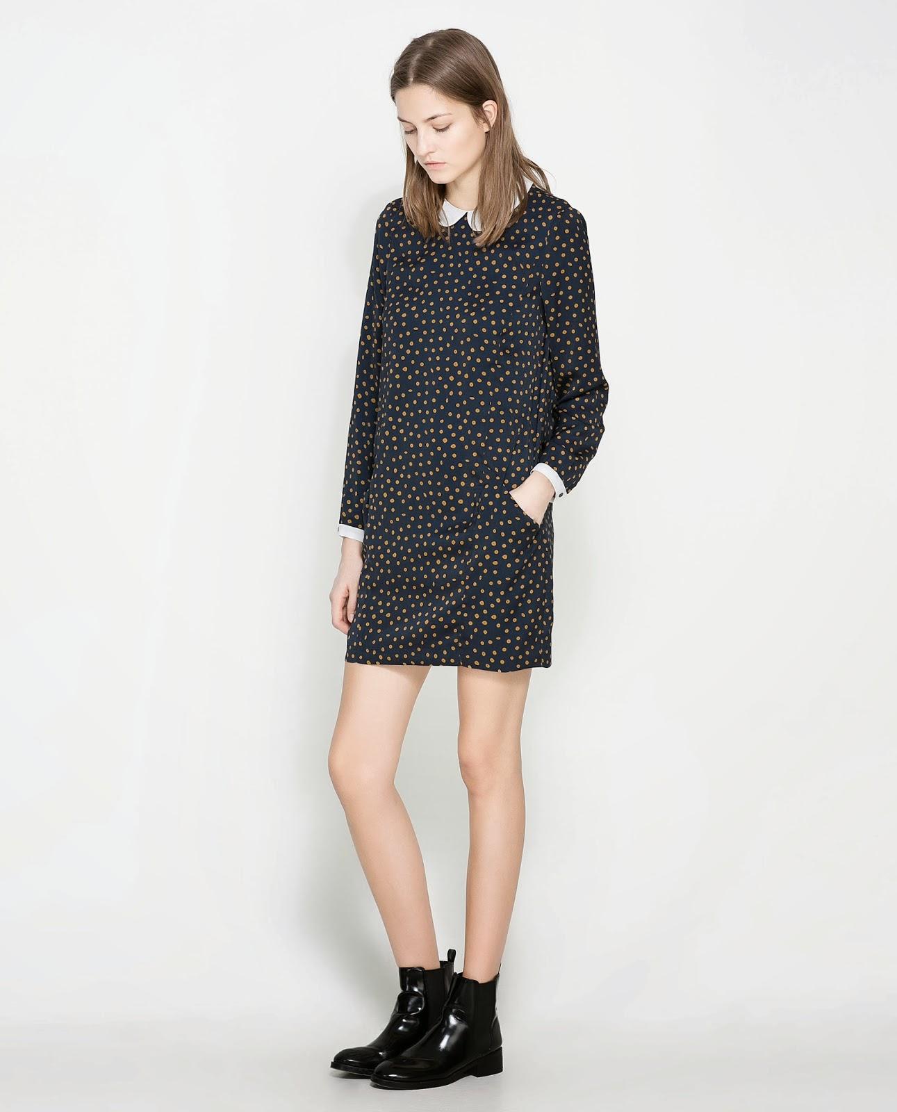 Zara spot dress