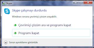 Skype Çalışmayı Durdurdu