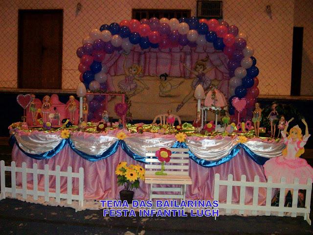 Decoração de festa infantil da Bailarina