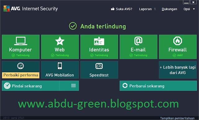AVG Internet Security 2013 + Serial Number Sampai 2018