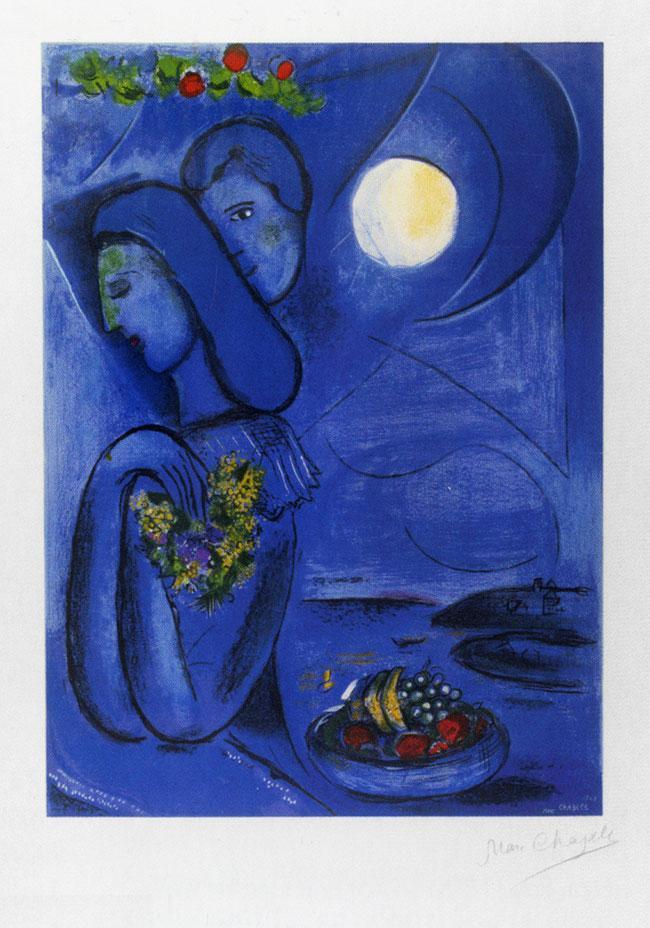 échos de mon grenier: L'amour est bleu Chagall Ferrat