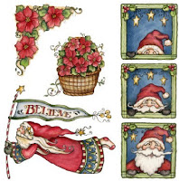 decoupage pictures christmas
