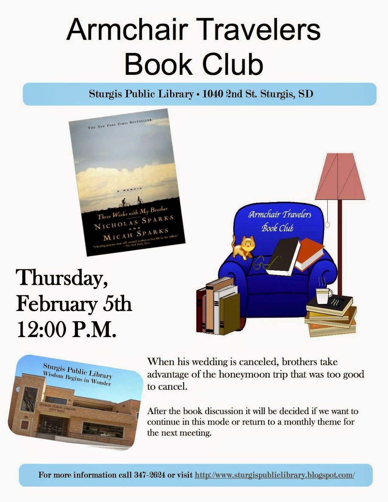 Sturgis Public Library: Armchair Travelers Book Club ...