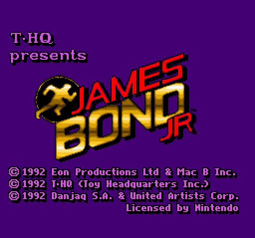 James Bond Jr Nintendo SNES title screen