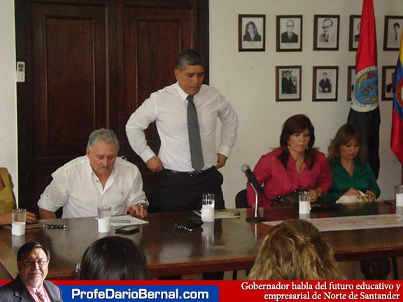 Gobernador habla de prepararnos para la bonanza petrolera que habrá en Norte de Santander