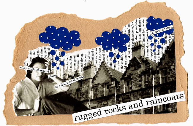 rugged rocks and raincoats