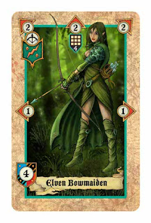 Lords of war card game review  Elven Bowmaiden