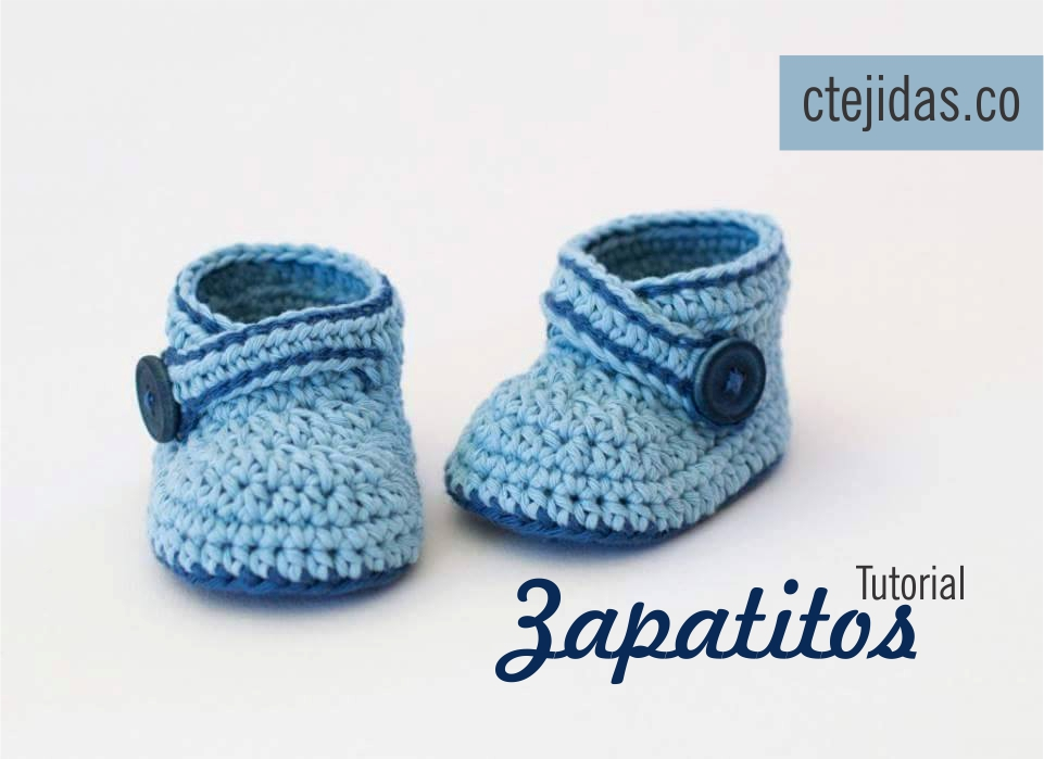 Crochet Tutorial Zapatitos : Tutorial #108: Zapatitos a Crochet - FotoTutorial ~ CTejidas [Crochet ...