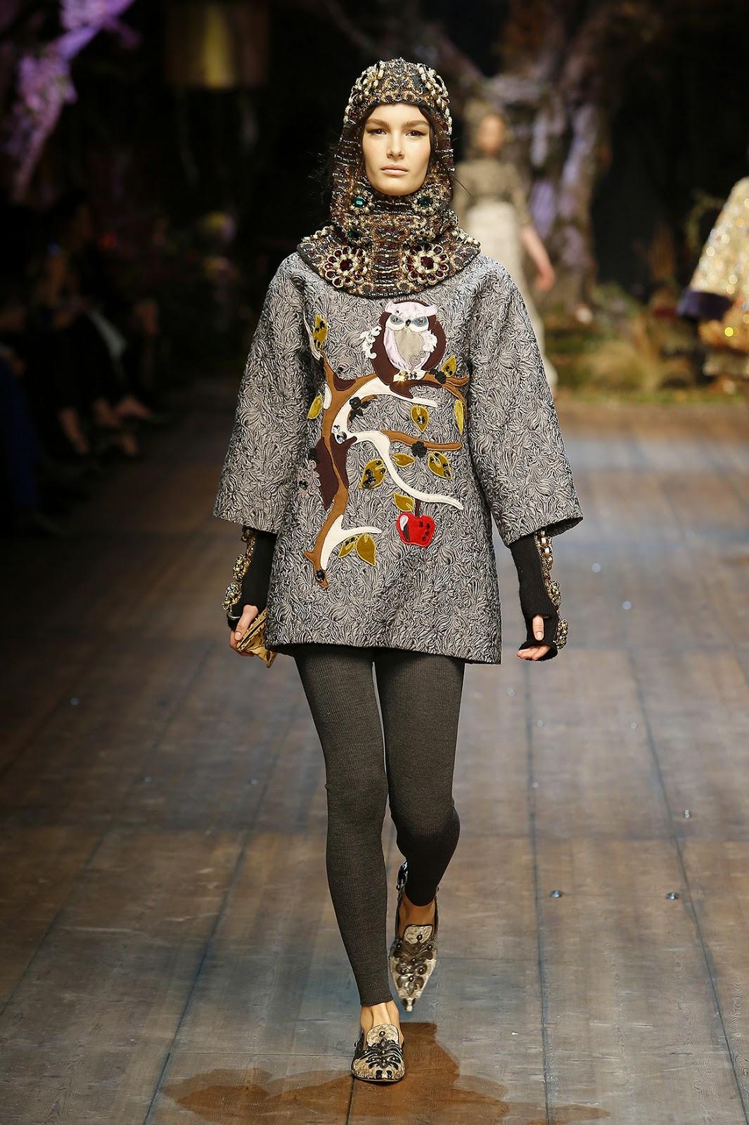 Dolce&Gabbana colecção outono inverno 2014-2015  coruja