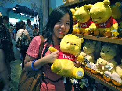 Winnie the Pooh doll at Hong Kong Disneyland Resort