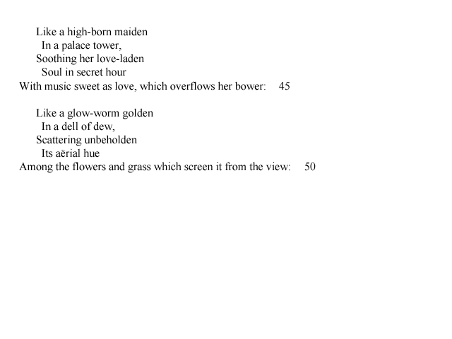 analysis of shelley s ode to the