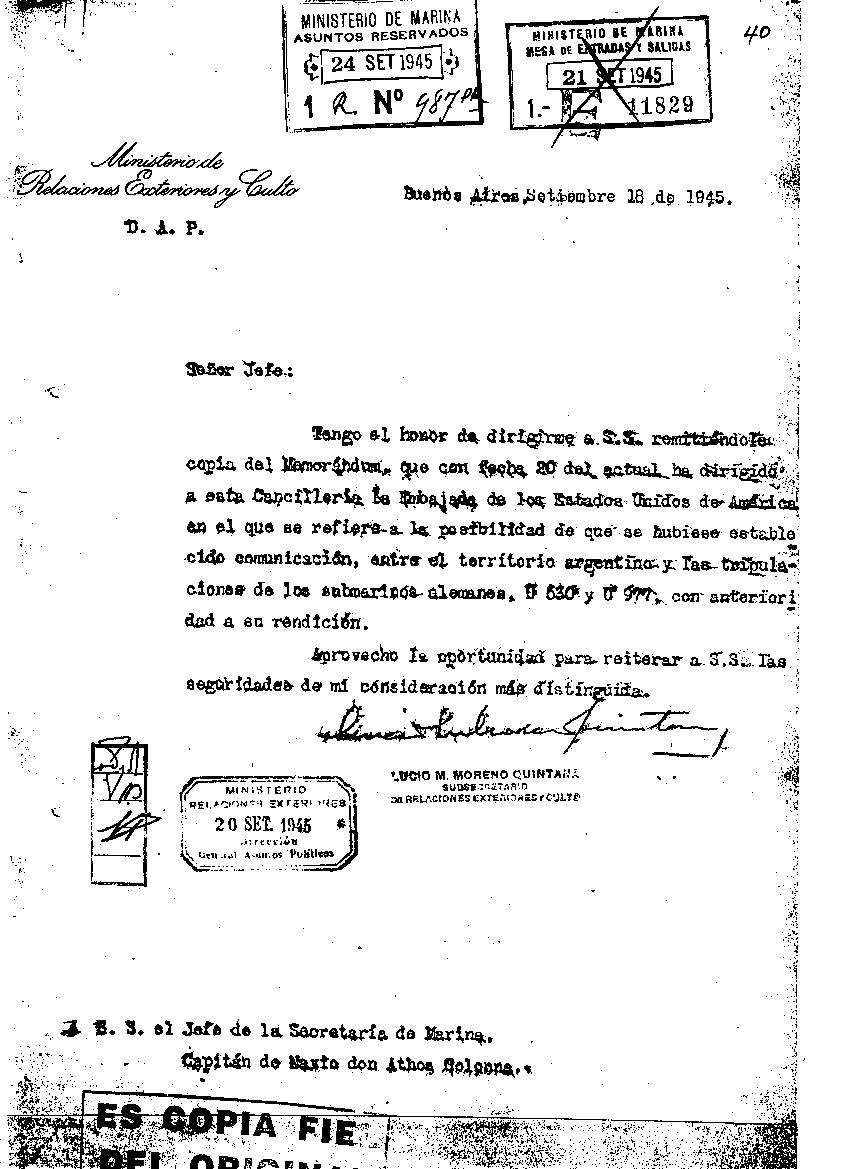 Documentos aseguran sobre submarinos Nazi en Argentina
