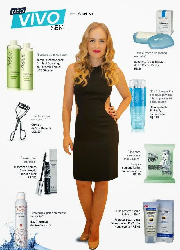 a apresentadora passou a depender de um arsenal de beleza para manter a pele e os cabelos em dia