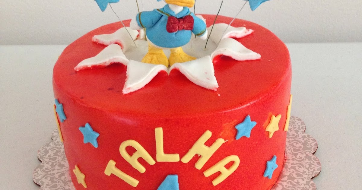 Donald Duck Birthday Cake Fun Sugar Cookies