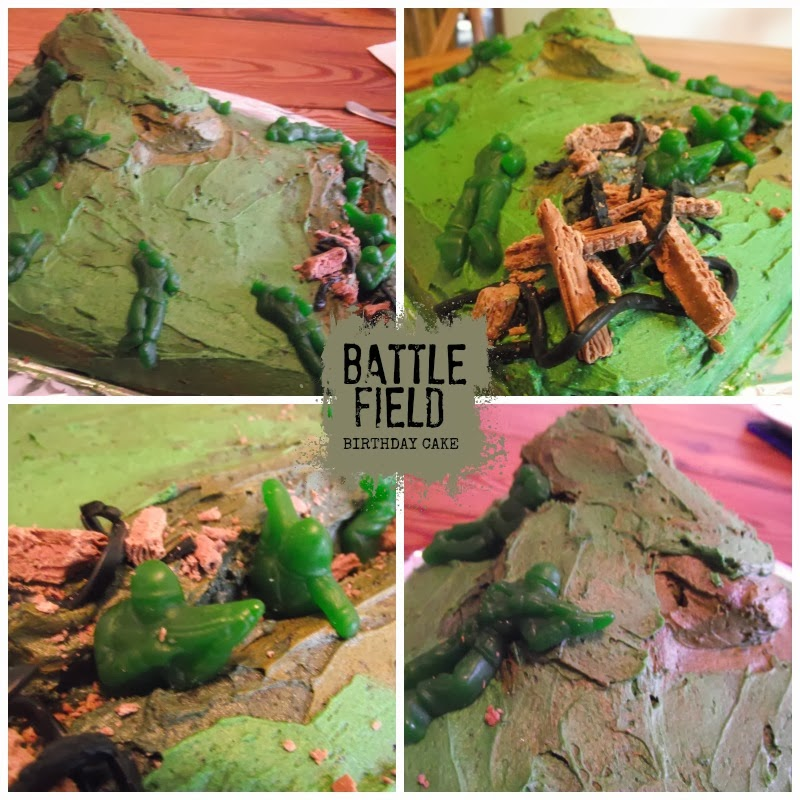 Great Fun Etc Army Party Camouflage Birthday Cake Cupcakes