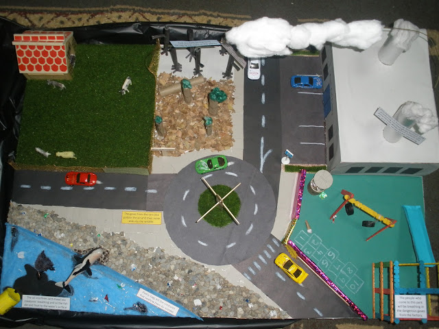 Our Crafty World: Pollution project for school