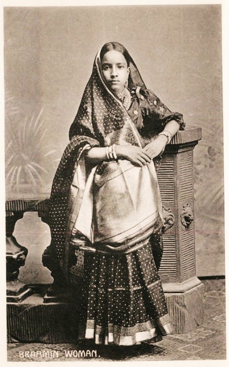 Vintage Photograph of a Brahmin Woman - Date Unknown