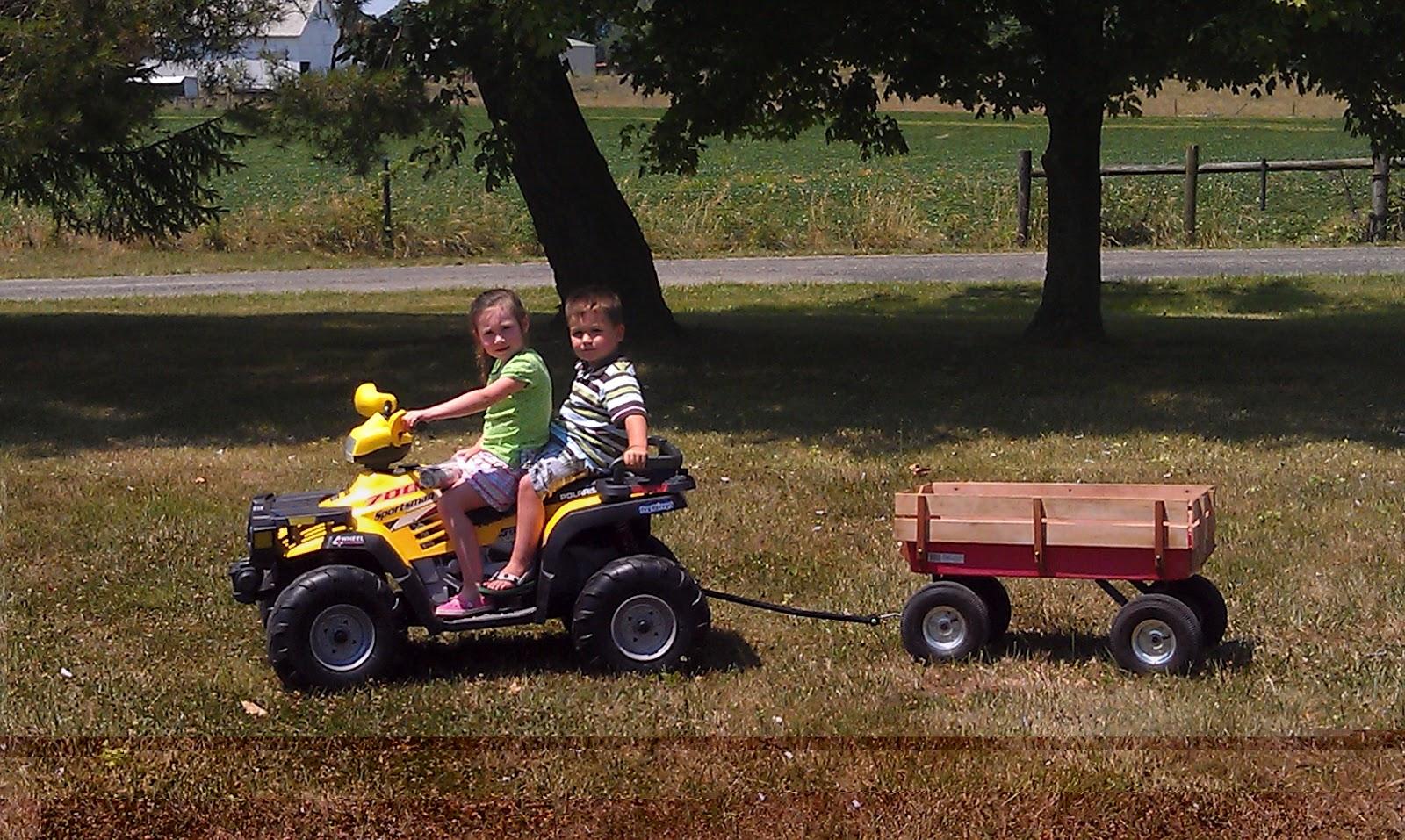 Four Wheeler Pulling Wagon : Wheeler wagon the