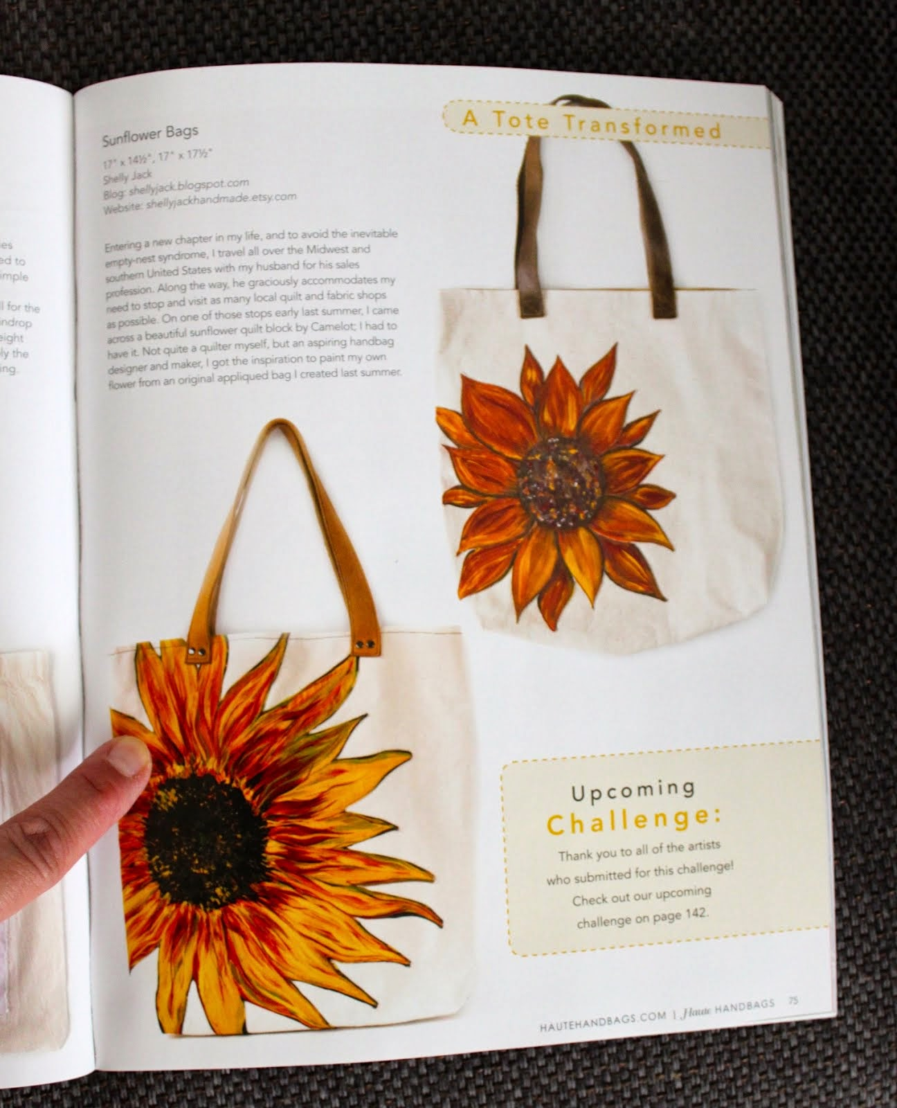 My Sunflower Tote in Haute Handbags!