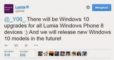 Semua model Lumia akan mendapatkan update Windows 10