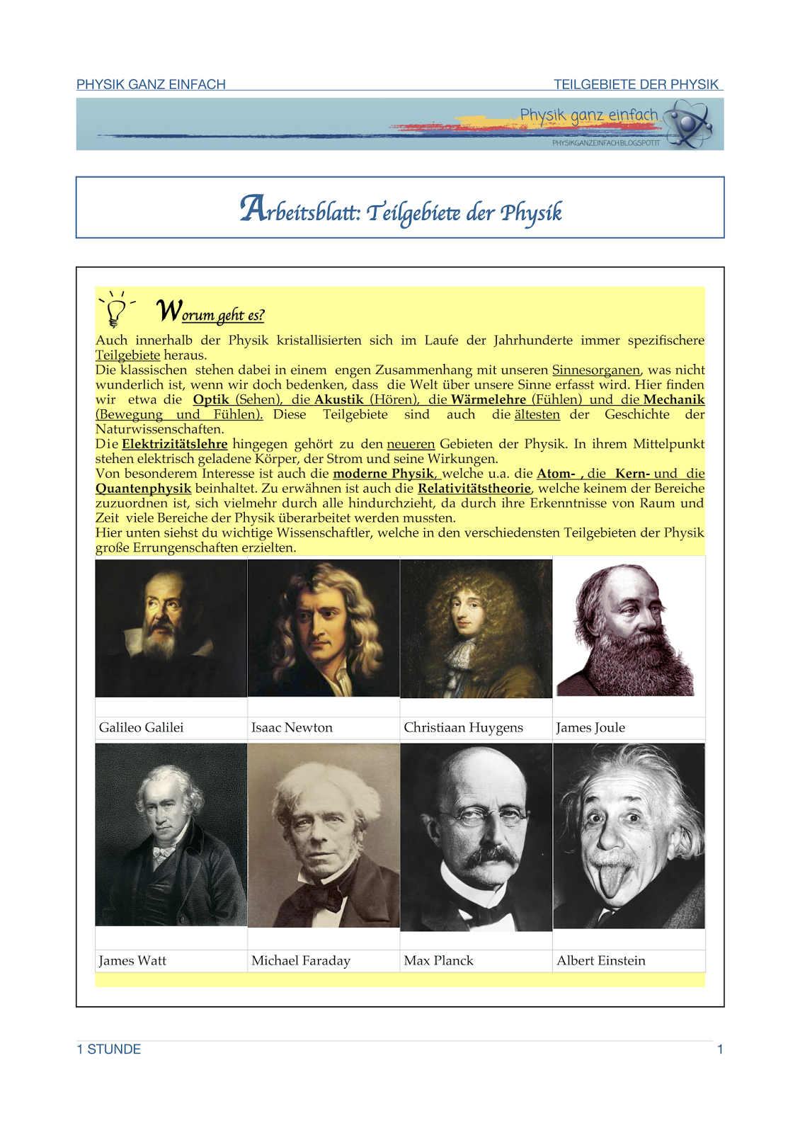 Programm 2. Klasse | Physik ganz einfach