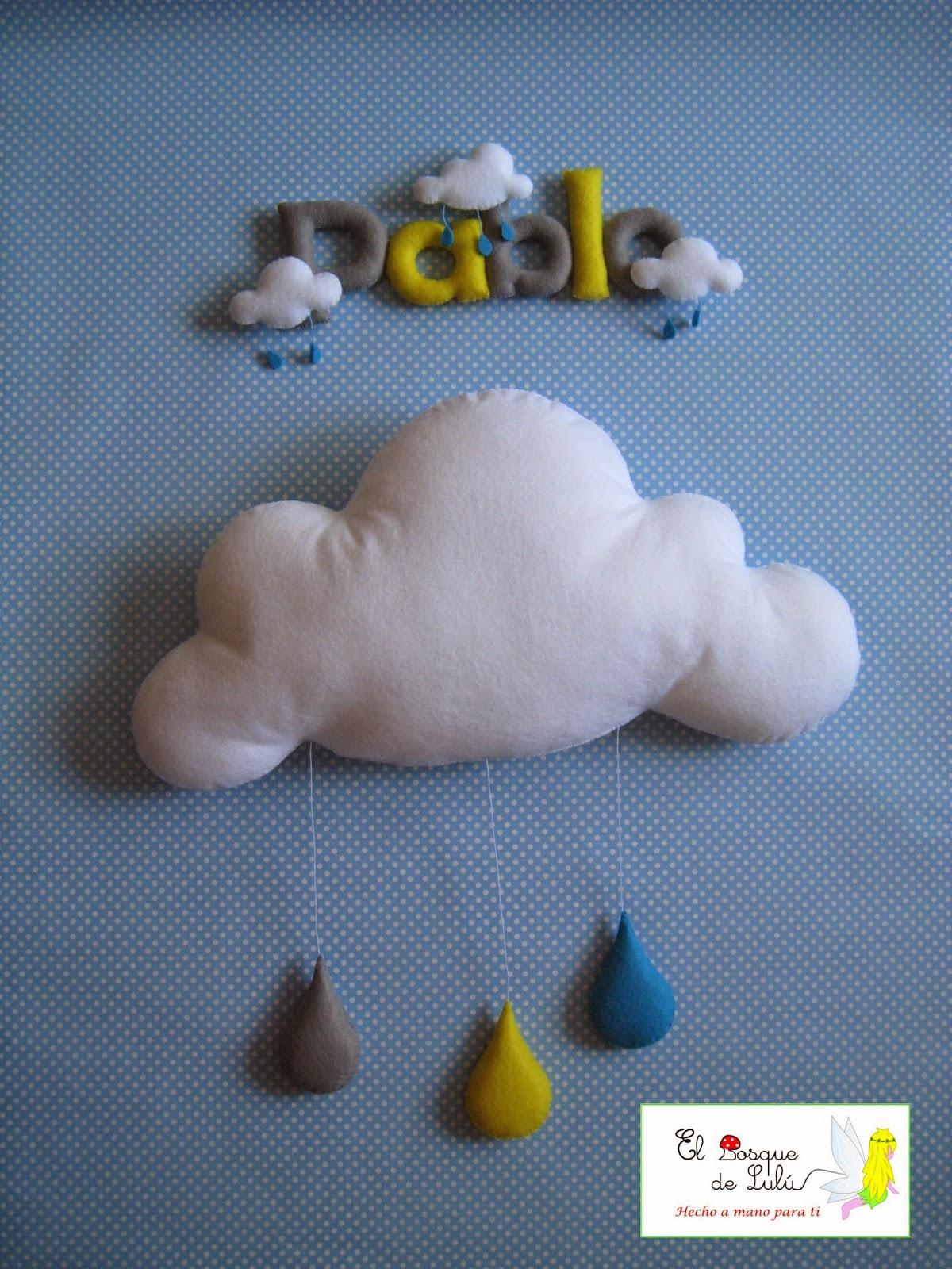 nombre-en-fieltro-de-fieltro-letrero-banner-name-decoración-infantil-nube-lluvia
