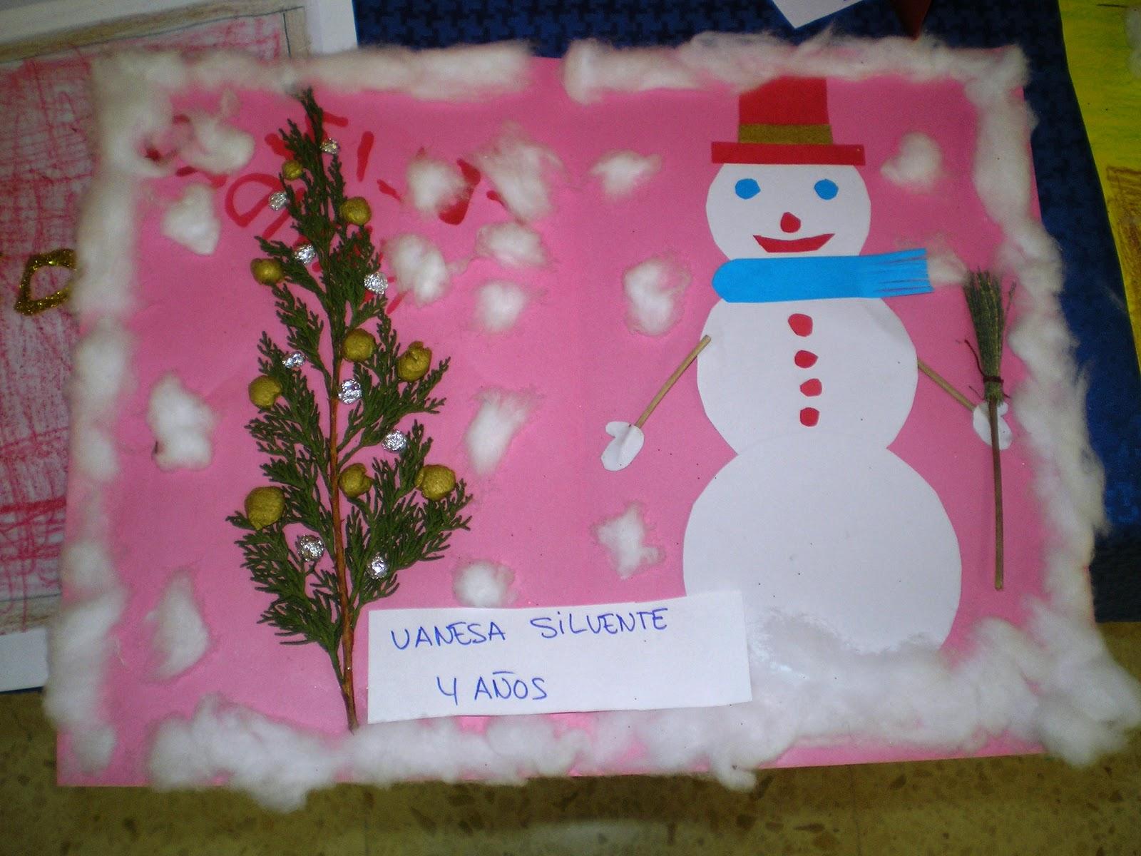 Maestra de infantil tarjetas de navidad hechas por ni os - Postales de navidad hechas por ninos ...