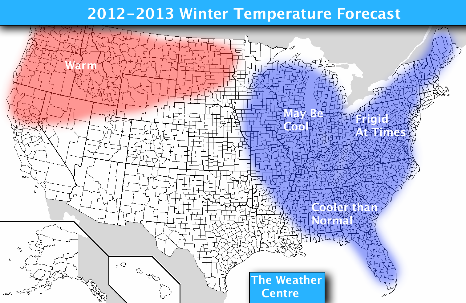 believe the winter will end up mainly cooler than