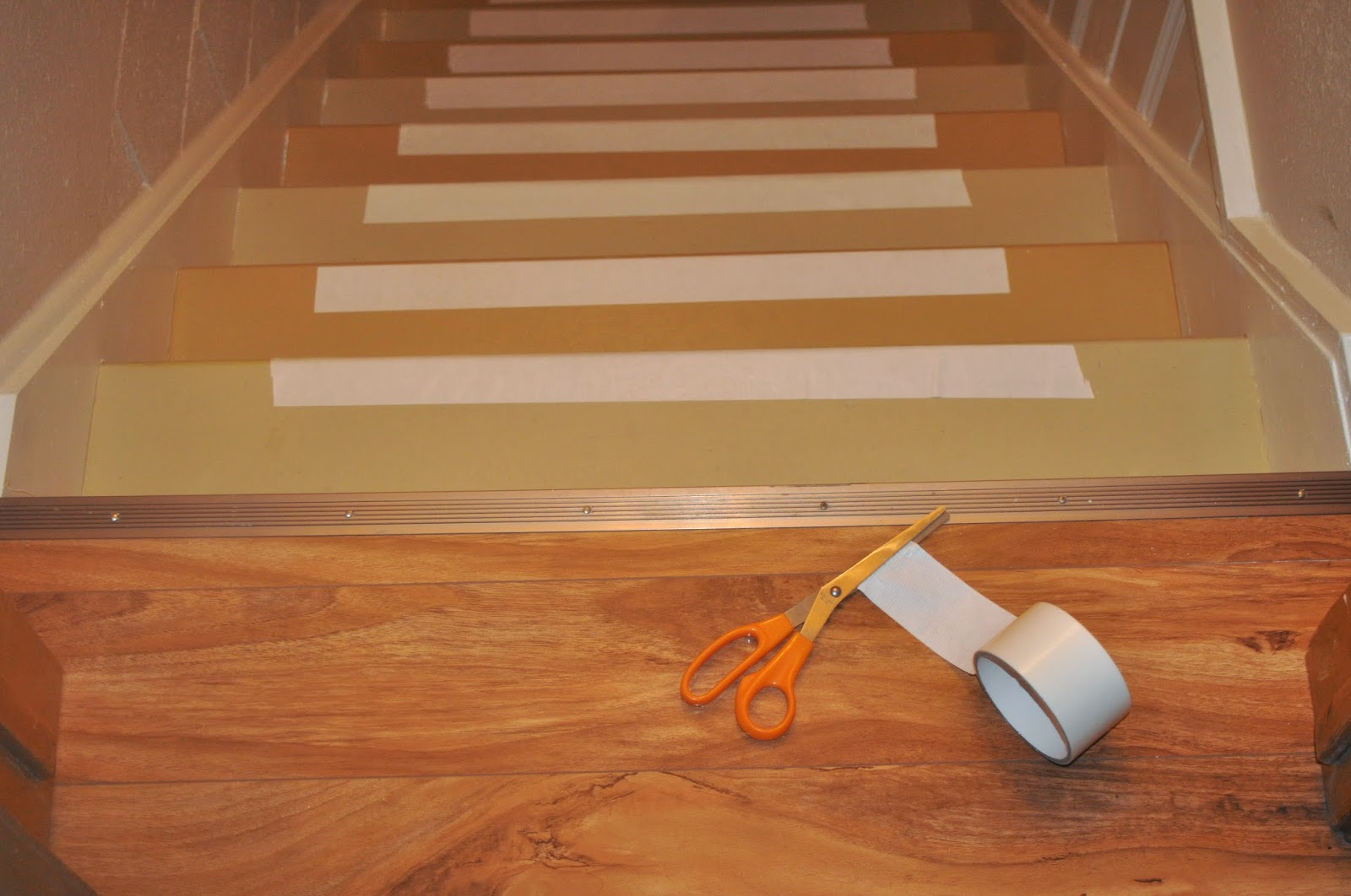 runner, overstock, runner installation, diy, easy, before and after, project, bostitch, staple gun, carpet pad, one hour, before, after, before and after, basement, hallway, stairs