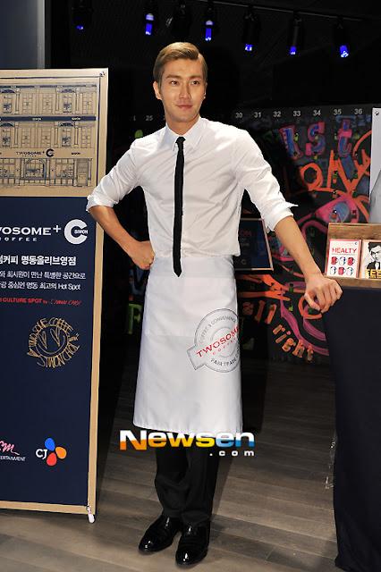 Siwon, Super Junior, menghadiri, pembukaan, acara, pop-up, amal, dua, orang, pemain, Kopi Choi Siwon, Kedai', kafe, KPOP, Hiburan