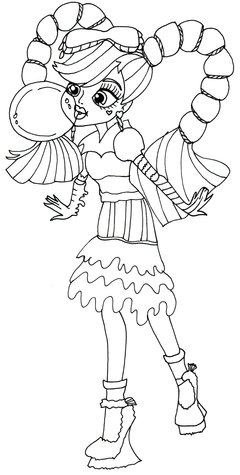 Monster high for coloring part 3 for Monster coloring pages