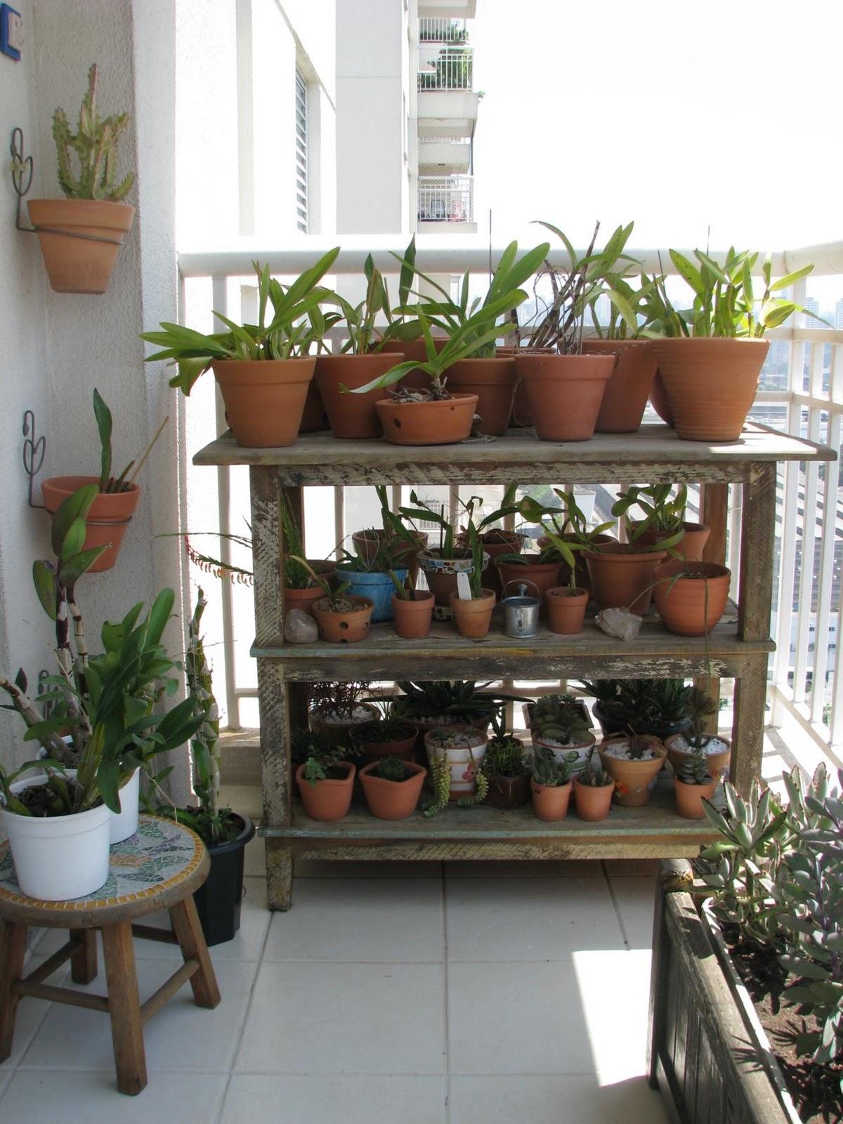 Verde jardim minha varanda meu jardim for Estantes para plantas exteriores