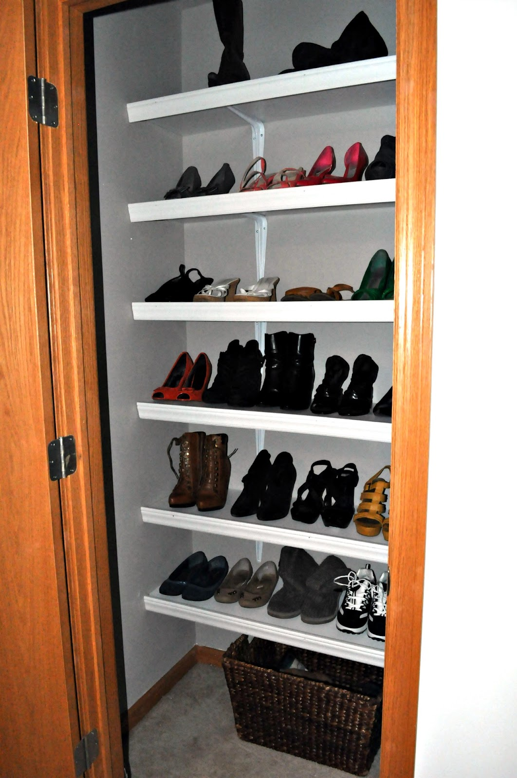 always chasing life my diy shoe closet